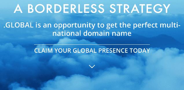 enregistrer nom de domaine en .global