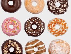 Photos avec des beignets façon donuts