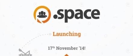 Lancement du .space pour les noms de domaine