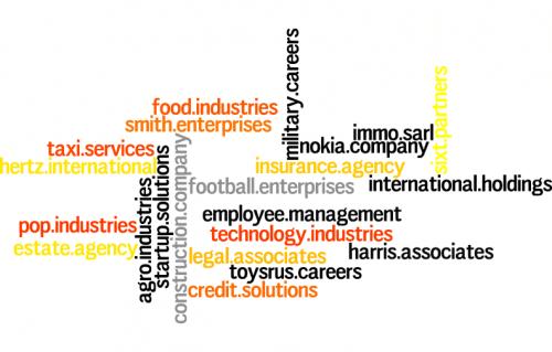 Libération des noms de domaine par Donuts catégorie business