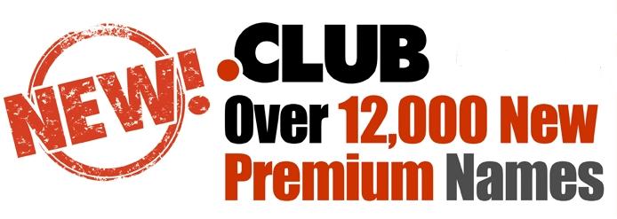 Libération de 12 000 noms domaine premium en .CLUB