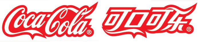 Logo coca-cola en chine