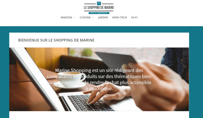 Marine2017.fr reconverti en e-commerce