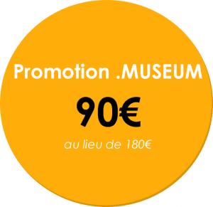 tarif promotionnel nom de domaine .MUSEUM