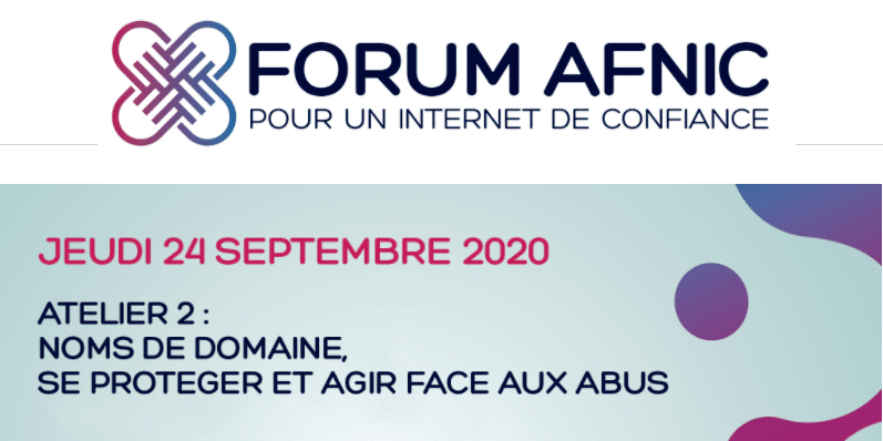 SafeBrands interviendra lors du 2ème atelier du Forum de l'Afnic